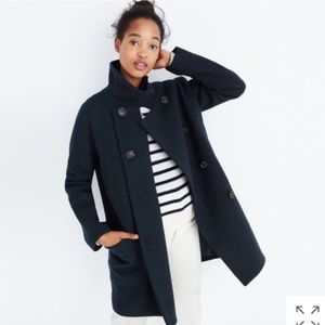 Madewell Double-Breasted City Grid Coat
